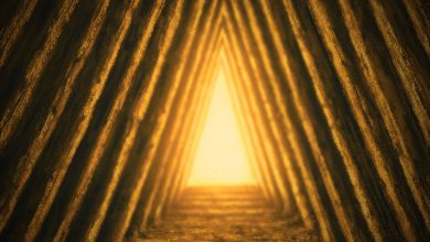Pyramid inside a pyramid inside another pyramid. Shutterstock.