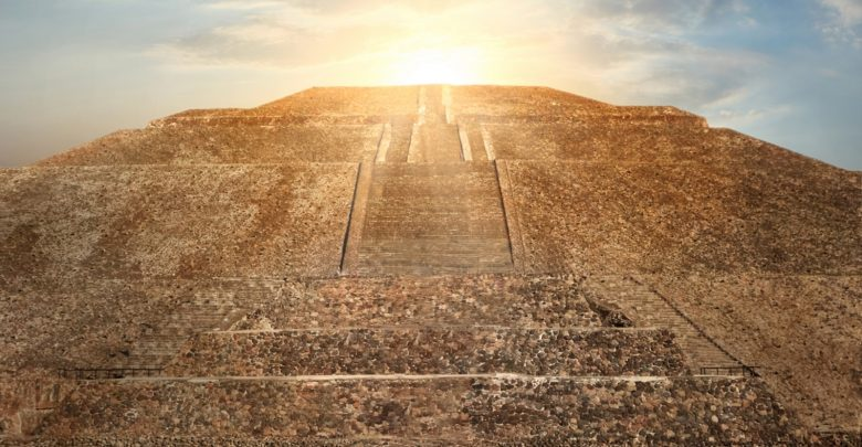 The Pyramid of the Sun at Teotihuacan. Shutterstock.