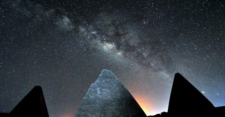 Pyramids in the desert, Sudan.