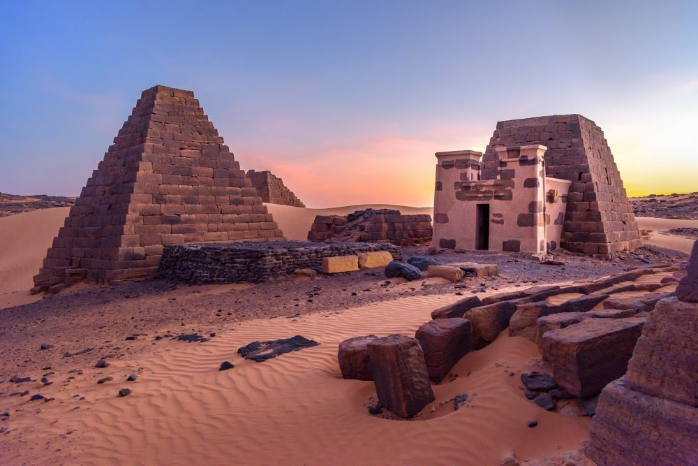 The Pyramids of Sudan. Shutterstock.