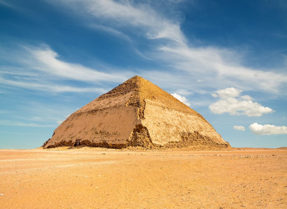 The Bent Pyramid at Dashur. Shutterstock.