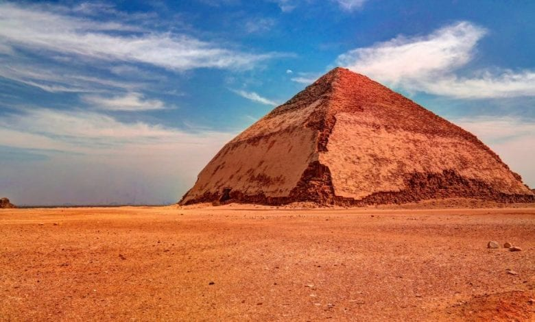 The Bent Pyramid of Ancient Egypt. Shutterstock.