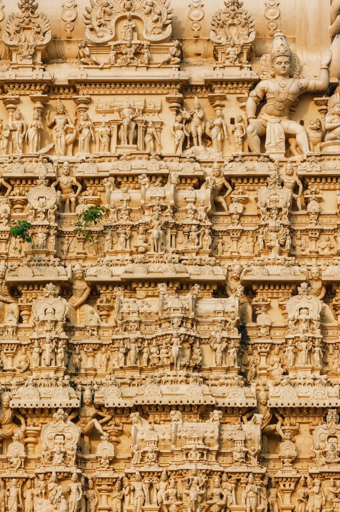 The Facade of the ancient Padmanabhaswamy Temple. Shutterstock.