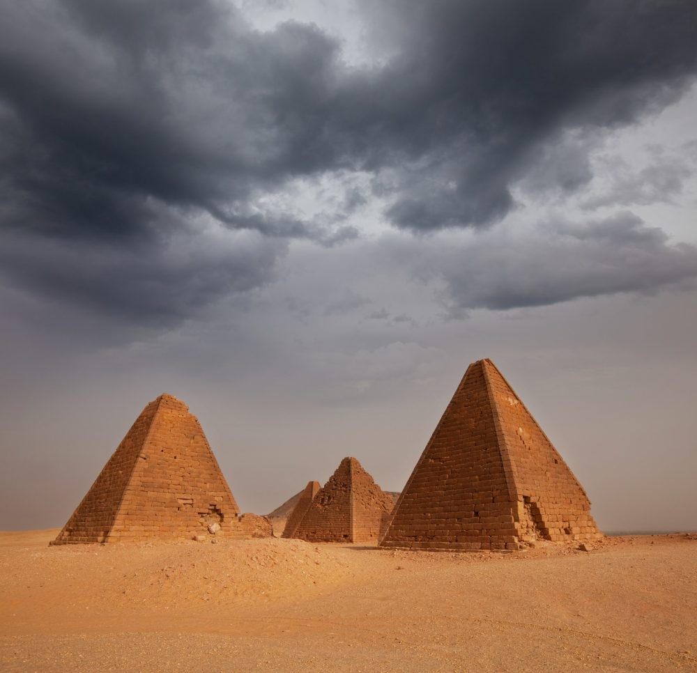 The Pyramids of Meroe Sudan. Shutterstock.