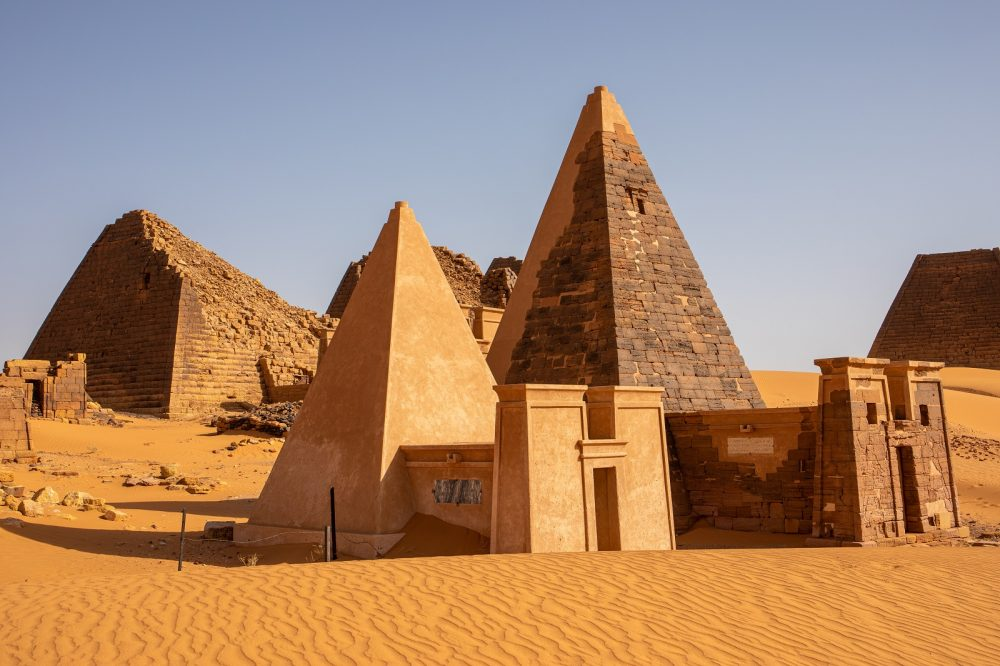 The Pyramids of Meroe, located north of Khartoum in Sudan. Shutterstock.