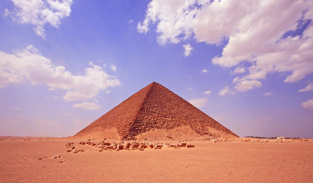 The ancient Red Pyramid of Dahshur. Shutterstock.
