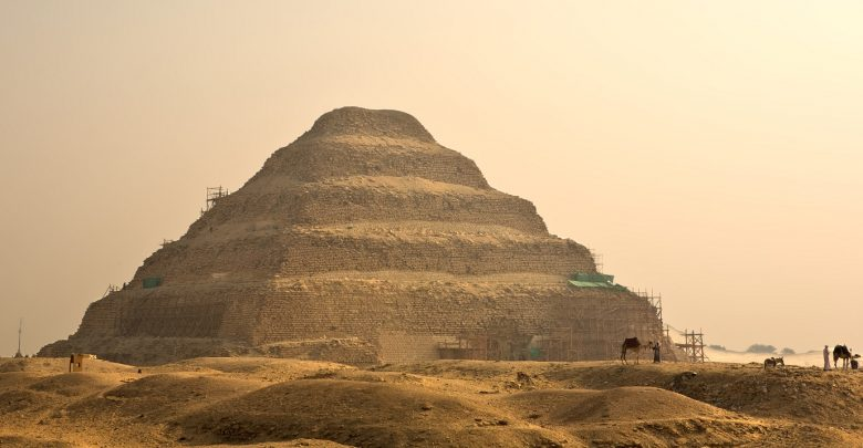 A stunning view of the The Step Pyramid of Djoser in Saqqara. Shutterstock.