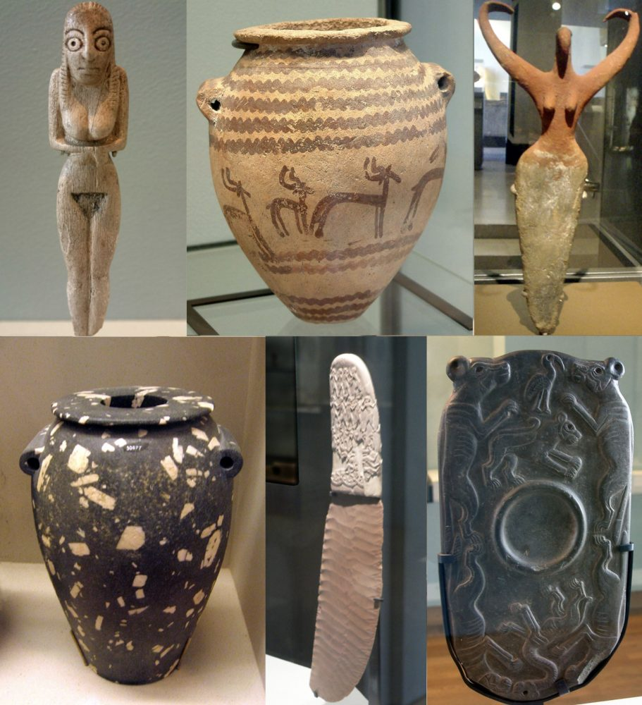 Artifacts of Egypt from the Prehistoric period. Image Credit Wikimedia Commons / CC BY-SA 3.0.