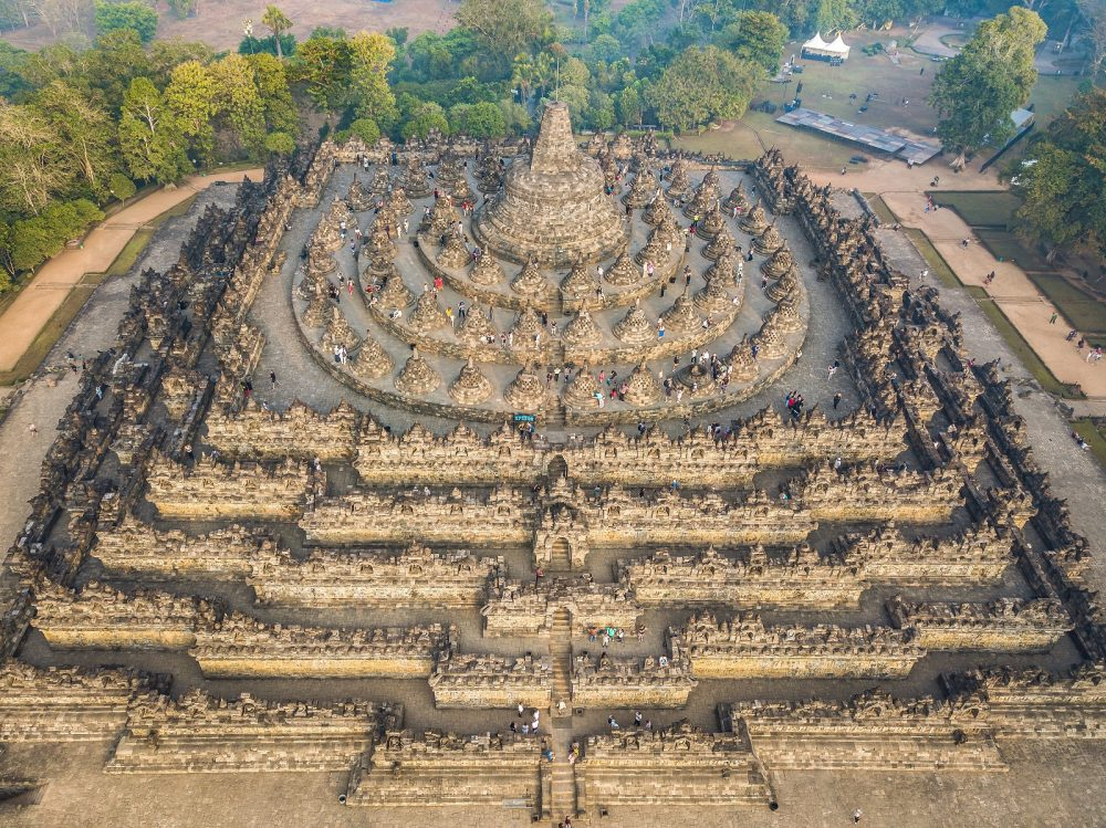 Aerial view of the temple. Shutterstock.