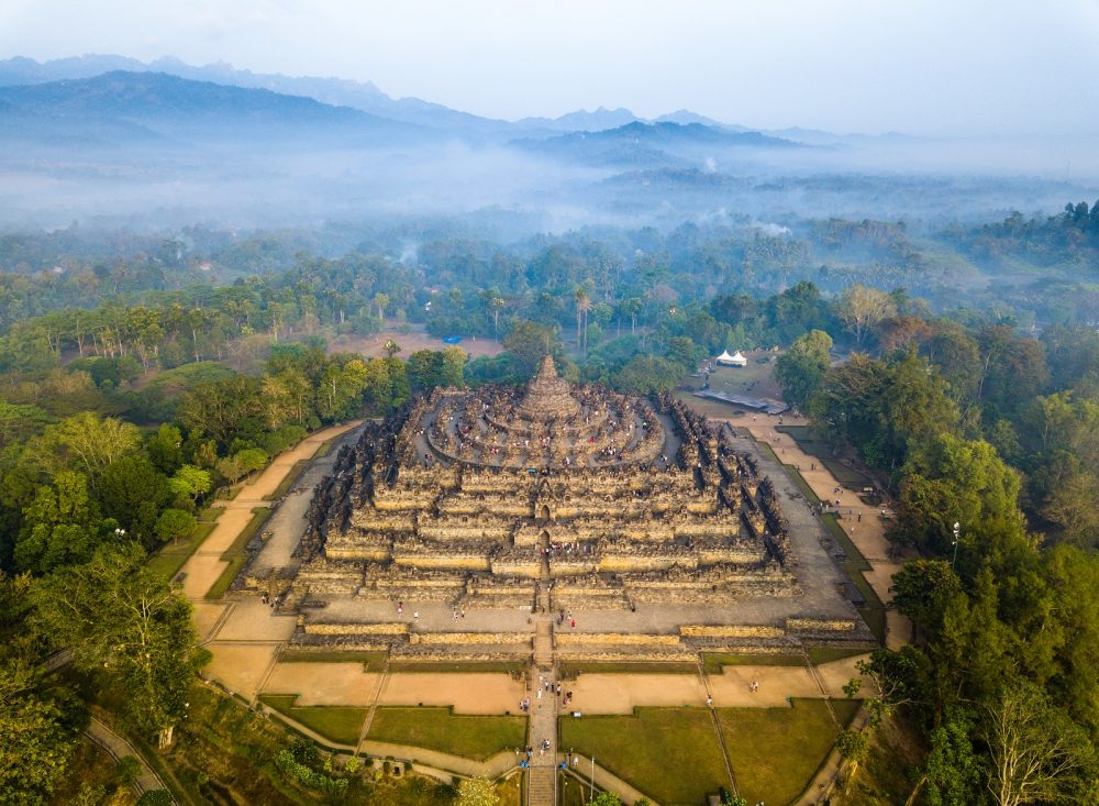 Aerial view of Borobudur. Shutterstock.