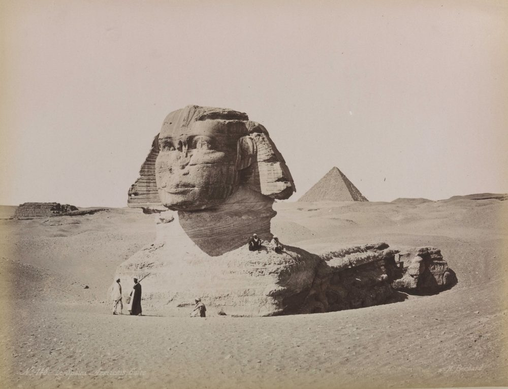 Great Sphinx in the 1870s. Image Credit: Wikimedia Commons.