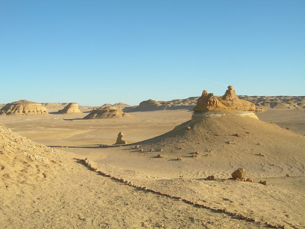 The hills of Wadi El Hitan. Image Credit: Wikimedia Commons / CC BY-SA 3.0-igo.
