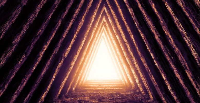 Artists illustration of a pyramid shape. Shutterstock.