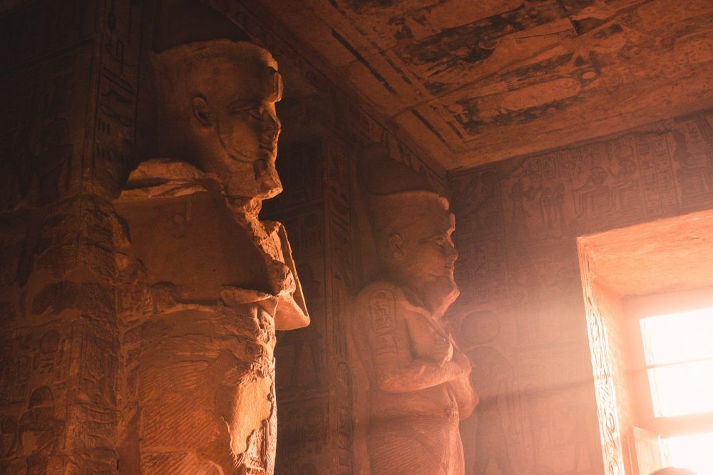 Interior of the Great Temple of Abu Simbel. Shutterstock.