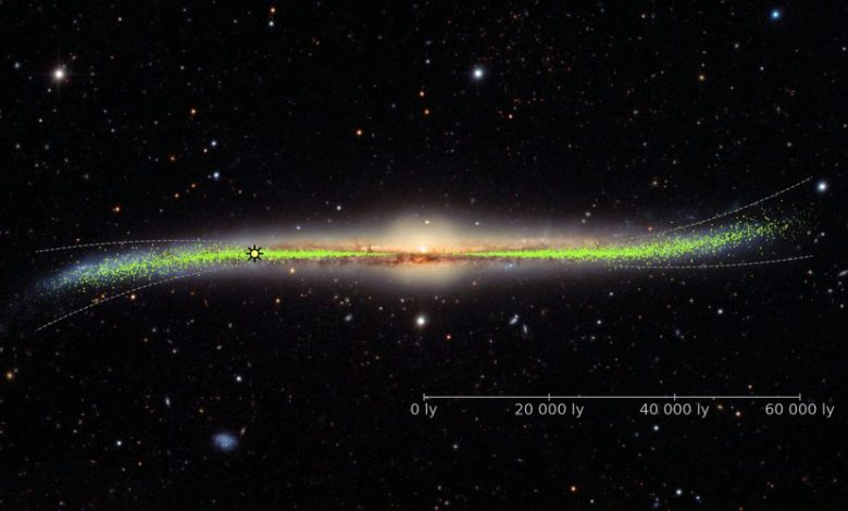 Our Milky Way Galaxy is not flat, it's warped. Image Credit: J. Skowron/OGLE/Astronomical Observatory, University of Warsaw.