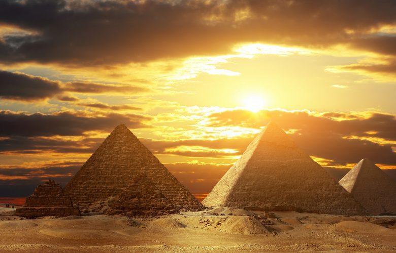 The Pyramids at Giza. Shutterstock.
