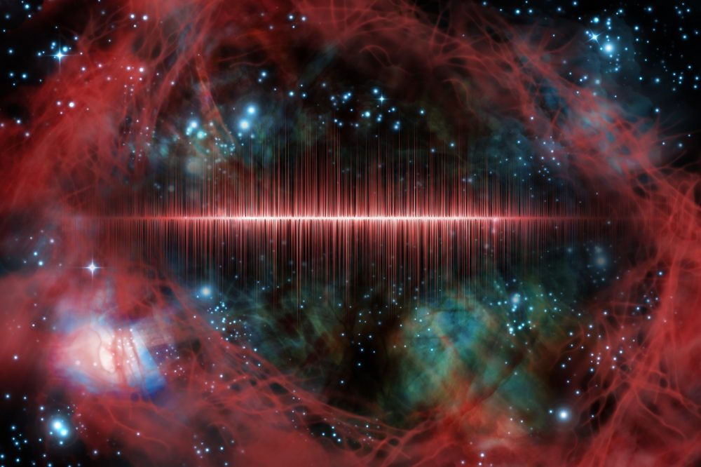 Artists rendering of a signal in space. Shutterstock.
