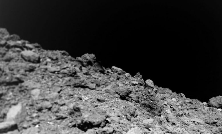 Surface features of Asteroid Ryugu. Jaumann et al (Science (2019).
