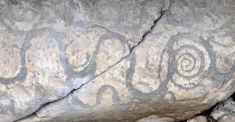 Carved Symbols at Newgrange. Shutterstock.