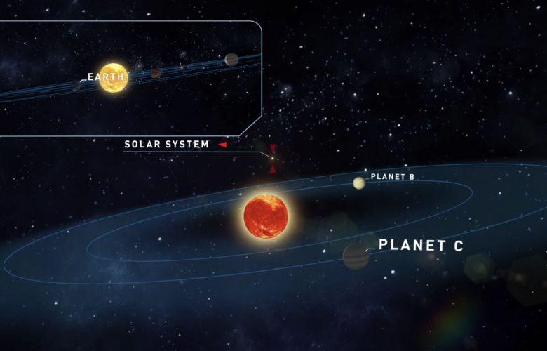 Artists illustration of Teegarden's star and its planets. Image Credit: Università degli Studi di Roma Tor Vergata / YouTube.