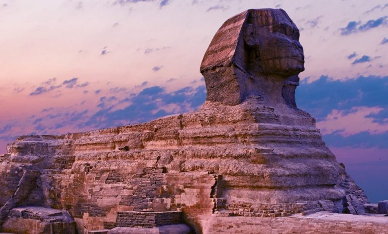 A side-view of the Great Sphinx at Giza. Shutterstock.