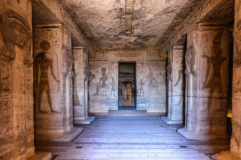 The Interior of the Great Temple at Abu Simbel. Shutterstock.