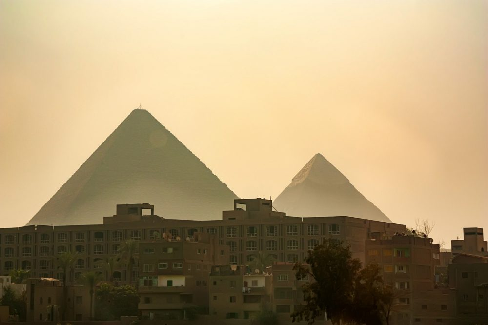 Imposing: The Pyramids at the Giza plateau. Shutterstock.