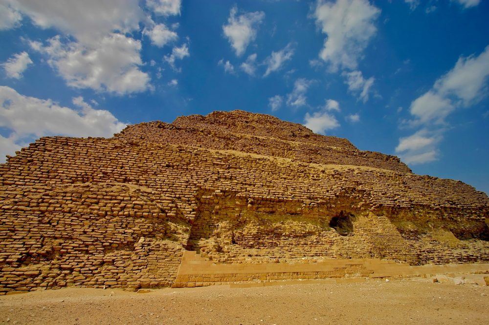 The towering size of Djoser's pyramid is seen in this image. Shutterstock.