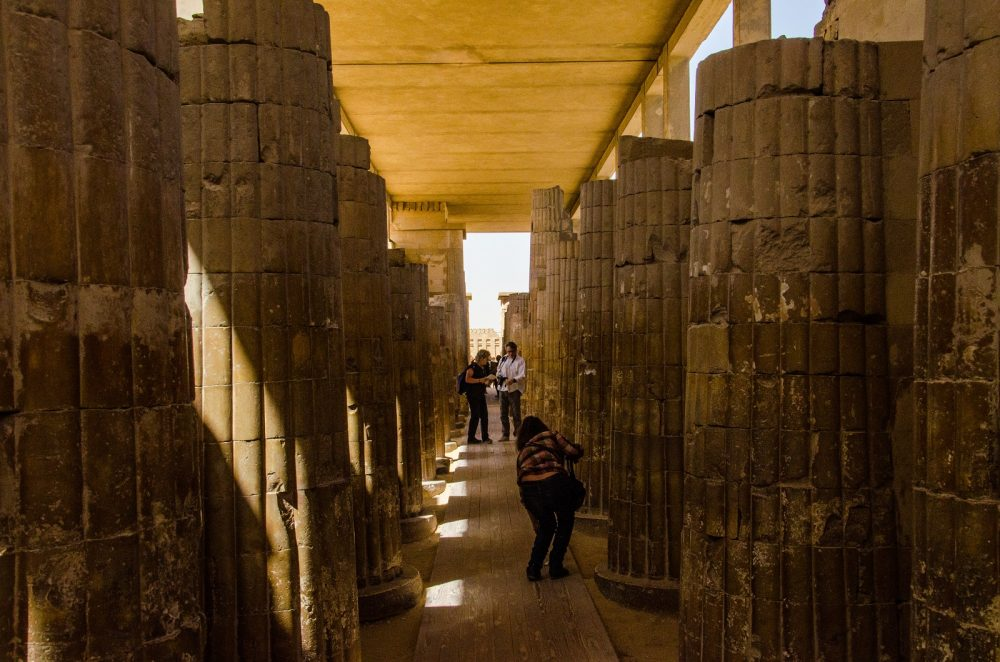 An image of Djoser's Pyramid temple complex. Shutterstock.