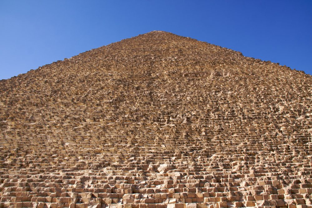 An image showing the size of the Great Pyramid of Giza. Shutterstock.