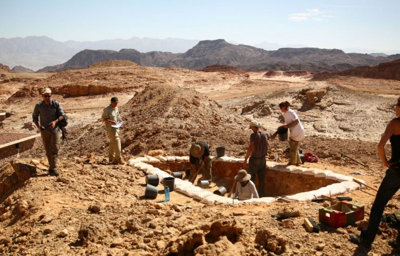 Excavations of ancient copper mines as part of Tel Aviv University's Central Timna Valley Project. Image Credit: E. Ben-Yosef and the Central Timna Valley Project.