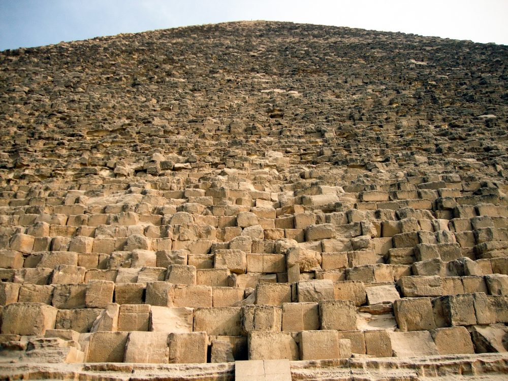 The Great Pyramid of Giza is believed to weigh more than 6 million tons. Shutterstock.