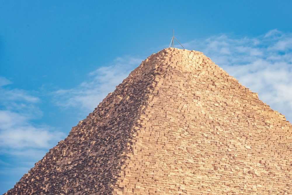 The Great Pyramid of Giza is missing its capstone. Shutterstock.