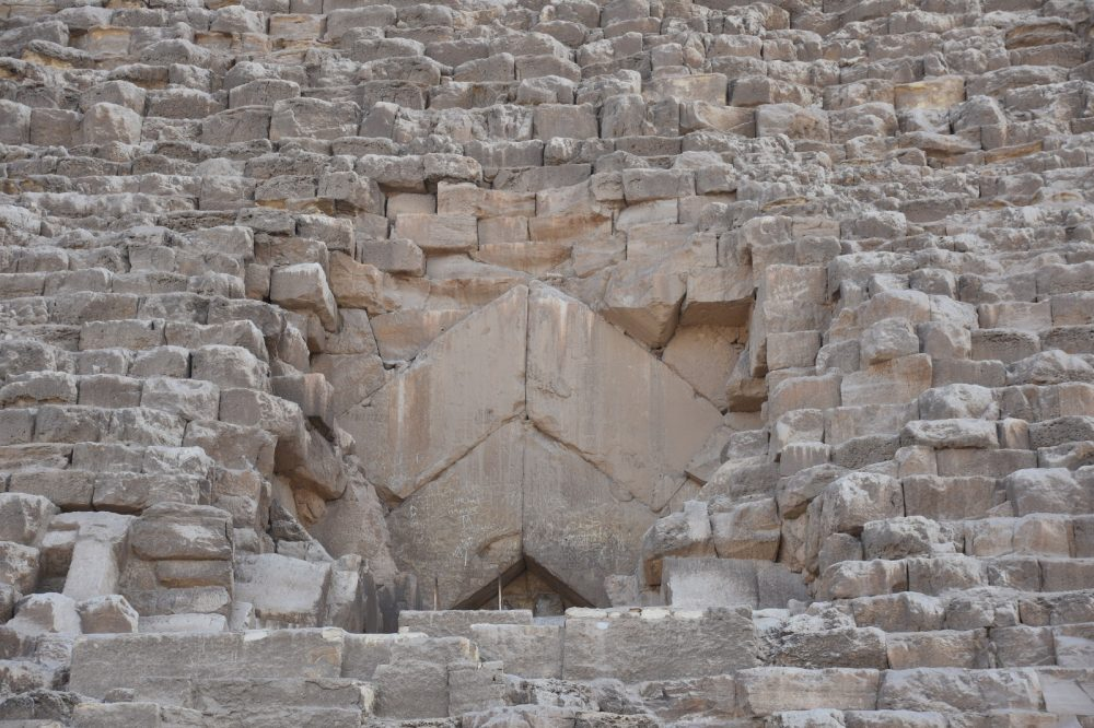 The original entrance to the pyramid is massive. Shutterstock.