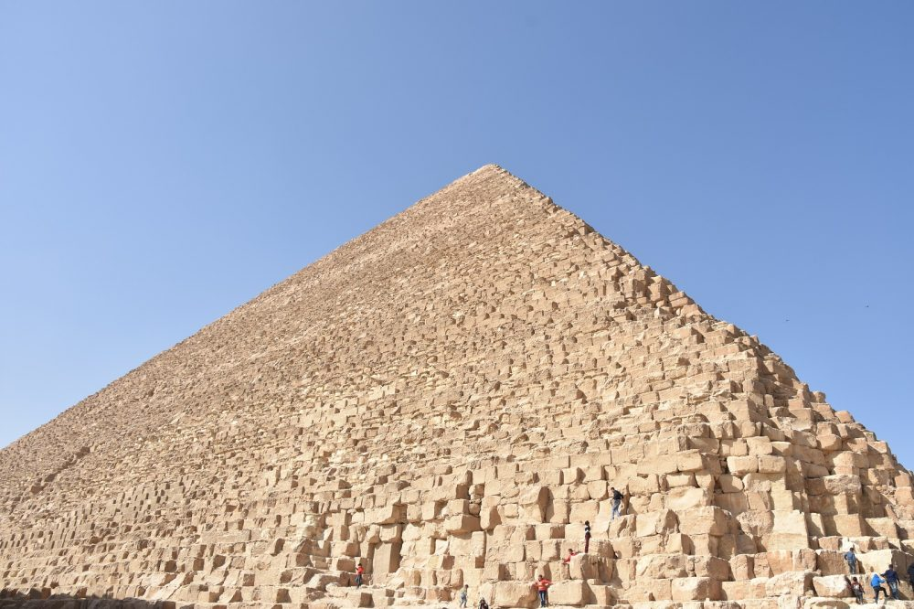 The Great Pyramid of Khufu is perhaps one of the most massive single buildings ever constructed on the planet. Shutterstock.