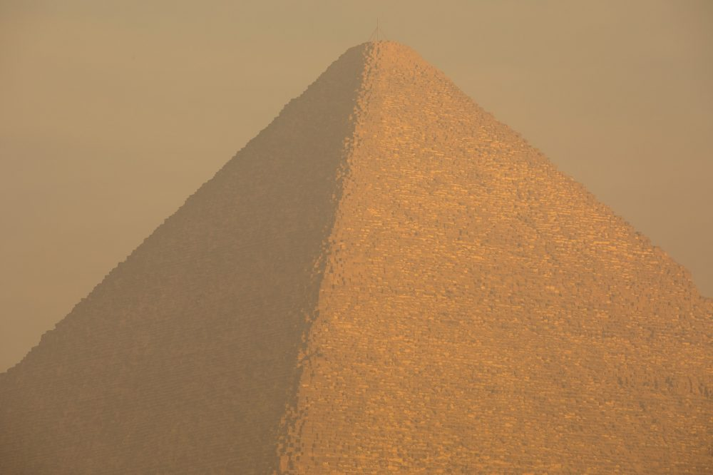The Great Pyramid is the largest of the three Giza pyramids. Shutterstock.