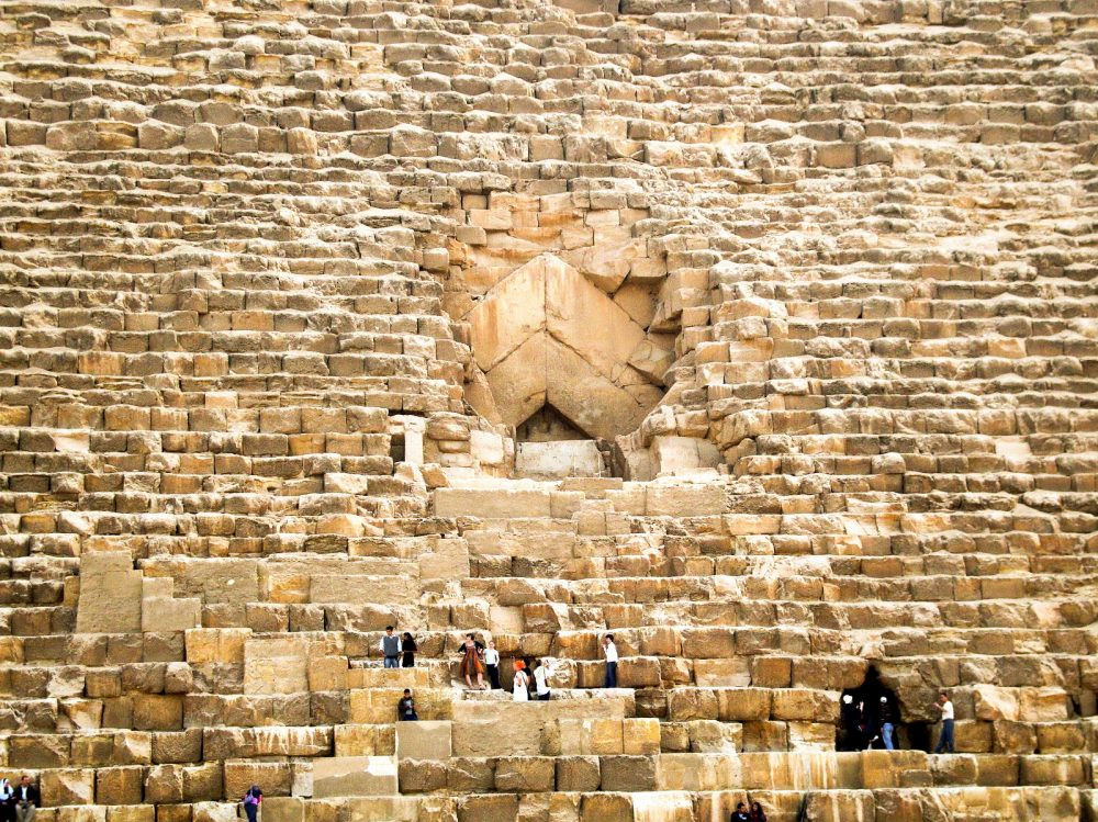 The entrances to the Great Pyramid. Shutterstock.