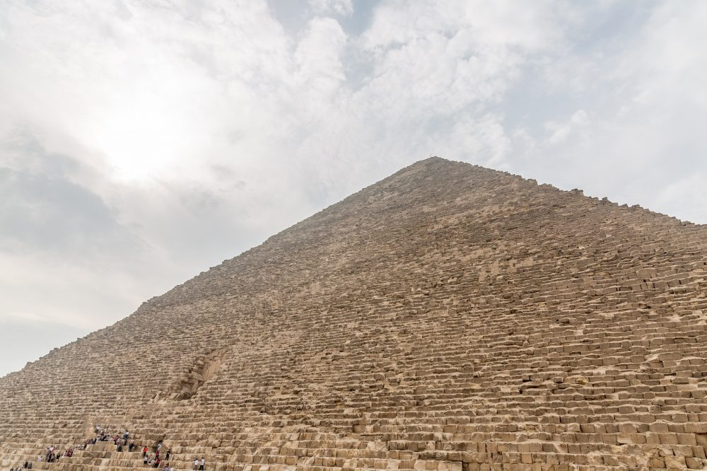 According to the ancient Greek historian Herodotus, the Great Pyramid was built in twenty years. Shutterstock.