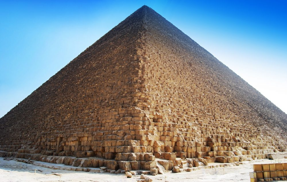 The three major Giza pyramids are believed to have all been built during ancient Egypt's Fourth Dynasty. Shutterstock.