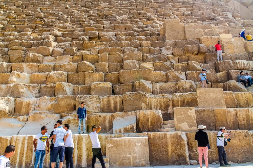 Some of the blocks of stone were transported from Aswan to Giza. Shutterstock.