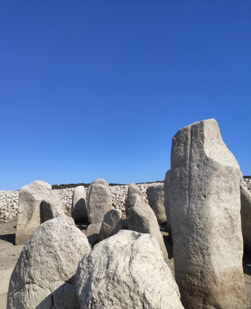 Some of the large menhir's of the Dolmens of Guadalperal. Image Credit: Wikimedia Commons.