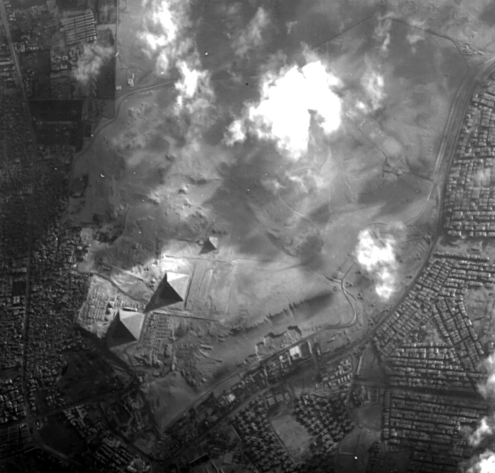 An image of the Pyramids at Giza taken by the ESA's Proba-1 minisatellite. Image Credit: ESA.