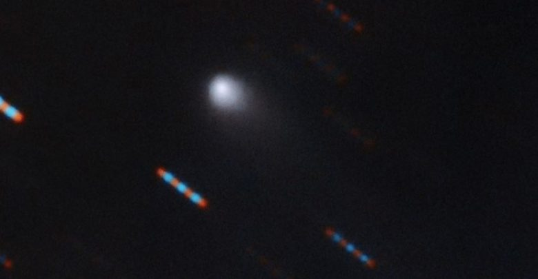 Image of the first interstellar comet C/2019 Q4 (Borisov). Image Credit: Gemini Observatory / NSF / AURA.