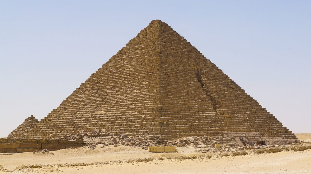 The third largest pyramid at Giza, the pyramid of Menkaure. Shutterstock.