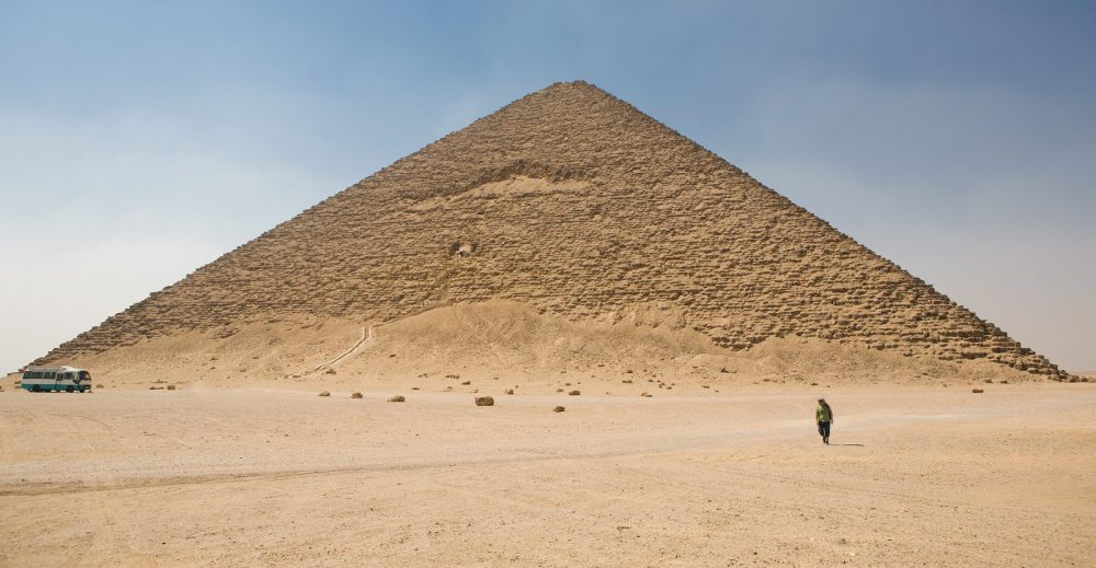 The Red Pyramid is 105 meters (344 ft) high. Shutterstock.