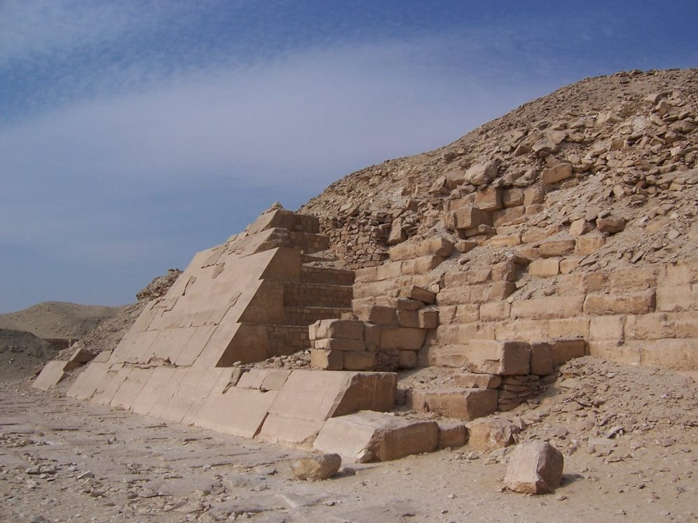 The exterior casing stones on the Pyramid of Unas. Image Credit: Wikimedia Commons / Public Domain.