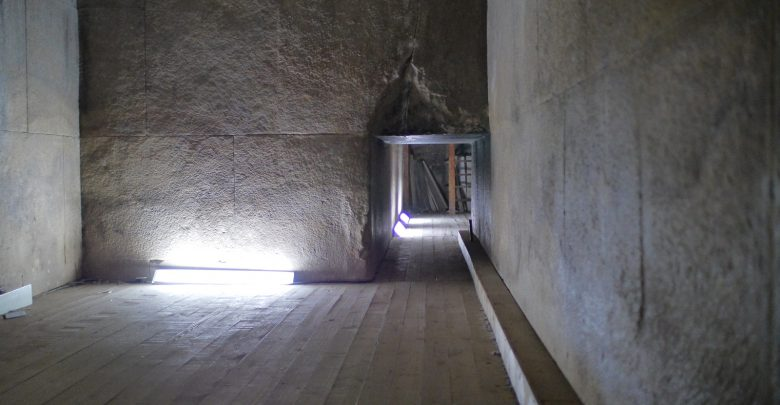 The interior of the Great Pyramid of Giza. Shutterstock.