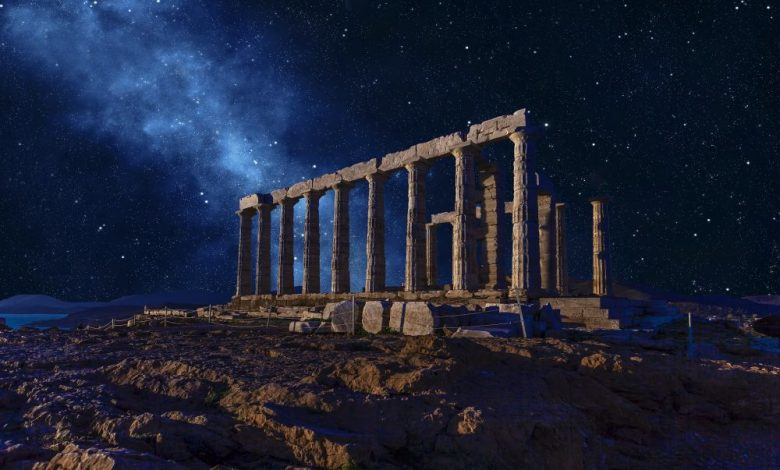 An image of the Poseidon Temple in Sounio. Shutterstock.