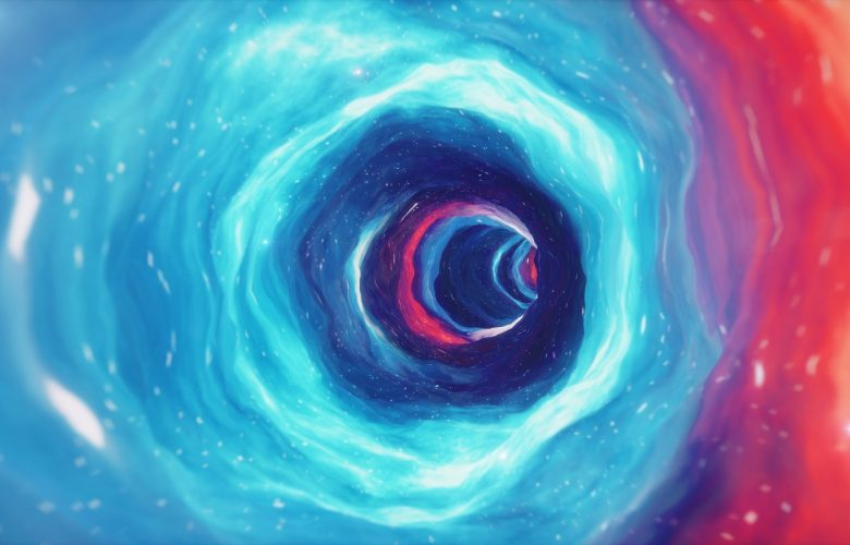 An artists illustration of a wormhole. Shutterstock.