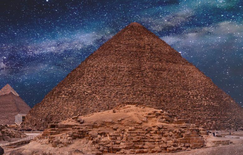 Ancient Pyramids under the night sky. Shutterstock.